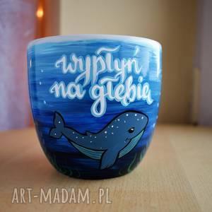 Kubek ręcznie malowany rybki motywacyjny kubki ciepliki dla niej