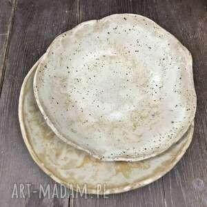 ręcznie wykonane ceramika gliniane miski robione piasek