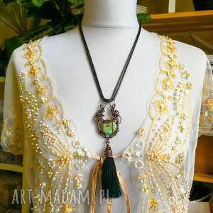 aida- naszyjnik w orientalnym stylu z chwostem - naszyjnik orient, naszyjnik chwost