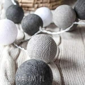 Qule Cotton Ball Lights Przyjemne Szarości 20 qul, salon, sypialnia, cotton, ball