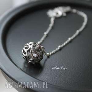 Kula marzeń na rękę, cyrkonie, bransoletka, oksydowana, gwiazdoo, elegancka