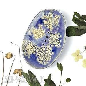 ceramika ceramiczna mydelniczka lilas, polskie rzemiosło, polska