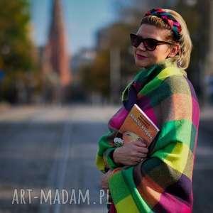 oryginalne prezenty, fascynatory kolorowy warkocz, opaska, sinamay, fascynator