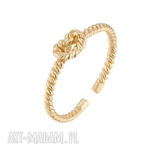 złoty pierścionek z węzełkiem - złote pierścionki