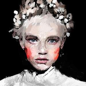 Obraz na płótnie I 100x100cm Snowdrop , obraz, płótno, salon, ściana, dekoracja