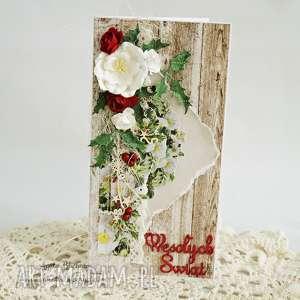 scrapbooking kartki kartka świąteczna w pudełku, boże-narodzenie, kartka-świąteczna