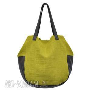 24-0001 Zielona torebka damska worek / torba na studia SWALLOW, markowe-torebki