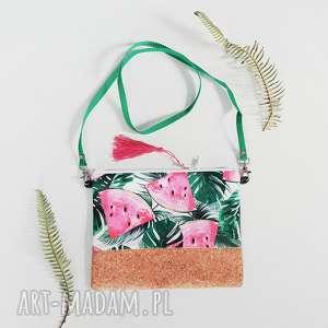 handmade na ramię kopertówka arbuzowa