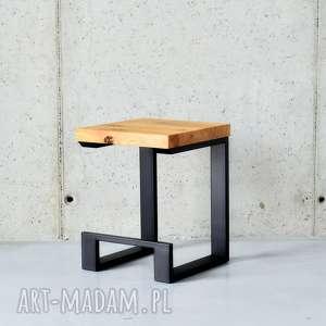 Stołek / Stolik EL, Dąb Czerń, hoker, stolik, krzesło, nowoczesne, loft, industrial