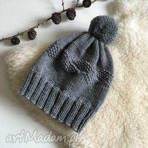 hand-made czapki wełniana czapka 100% merinowool