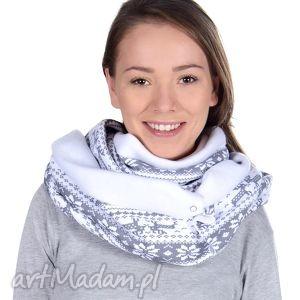komin damski bukiet pasji - jesień, szalik, zima