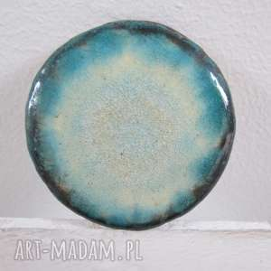 kosmiczna broszka ceramiczna - ,ceramika,unikatowa,broszka,na-prezent,turkusowa,