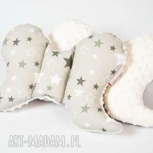 poduszka podróżna motylek - minky - gwiazdy ecru - motylek, poduszka, minky