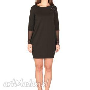 sukienki sukienka zanza, wygodna, elegancka, elastyczna, tiul, ozdoby, raglan