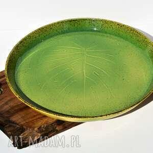 Ceramika Tyka: Duża Patera Dekoracyjna - talerz z wysokim