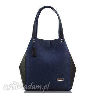 torebka jeansowa simple 134, simple, jeans, pikowana torebki