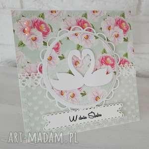 ręcznie wykonane scrapbooking kartki kartka ślubna