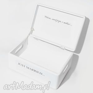 Ślubne pudełko na koperty kopertówka personalizowane just
