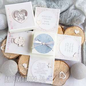 Eksplodujące pudełeczko - aniołek stróż narodziny, chrzest