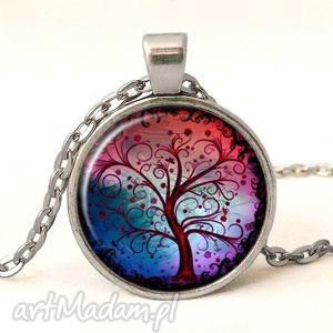 drzewo nadziei - medalion z łańcuszkiem, kolorowe drzewko, prezent