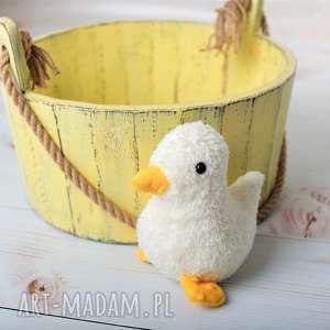 przytulanka dziecięca kaczuszka mała, kaczuszka na prezent, kaczka hand made
