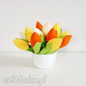 hand-made dekoracje tulipany - bukiet mini 13 tulipanów