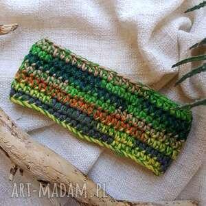 ręcznie robione opaski opaska kolorowa zielona wiosenna