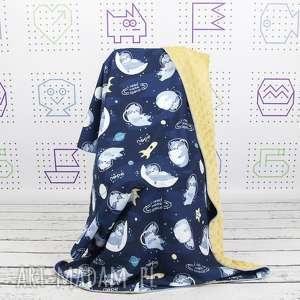 handmade dla dziecka kocyk 135x100 leniwce