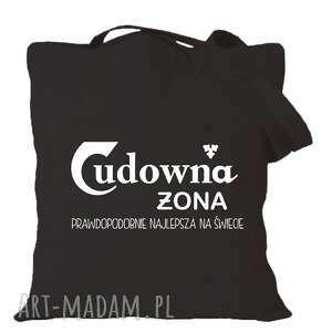 manufaktura koszulek torba z nadrukiem dla żony, żonki, prezent od męża