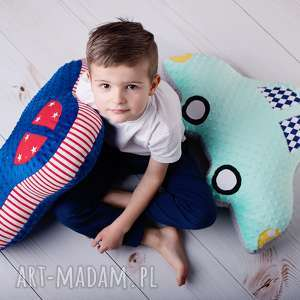 maskotki poduszka dziecięca auto, pomysł na prezent, dekoracja pokoju