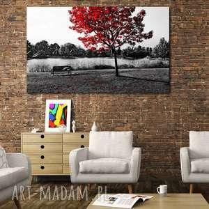 duże DRZEWO 27 -120x70cm obraz na płótnie design, drzewo, czerwone, design