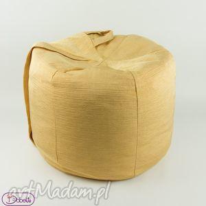 hand-made pufy złoty puf
