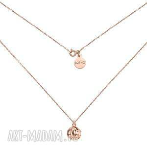 naszyjniki naszyjnik z kulą różowego złota, kulka, kuleczka, łańcuszek