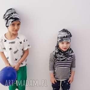 handmade zestaw czapka & komin moro