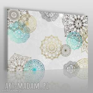 obraz na płótnie - mandale kolory 120x80 cm 52301, mandala, mandale, wzory, wzorki