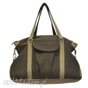 plenty more 07-0004 brązowa torebka sportowa torba fitness pigeon, modne, markowe