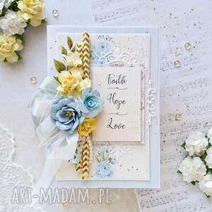 scrapbooking kartki kartka w pudełku wiara nadzieja miłość