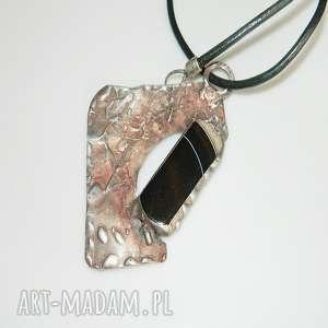 miedziany wisior-agat, wisior, wisior-miedziany, unikalna-biżuteria, tiffany, agat,