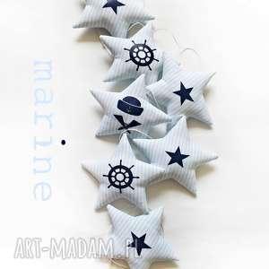 marine - girlanda błękit granat - marine, gwiazdka, gwiazdki, girlanda