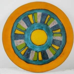 etniczna mega kolorowa patera, dekoracyjna, ceramiczna, talerz, ceramiczny