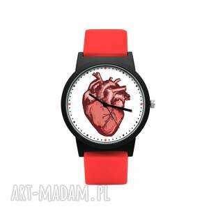 hand-made zegarki zegarek z silikonowym paskiem serce