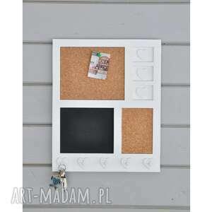 dom organizer, tablica korkowa, kredowa, z haczykami, na ścianę