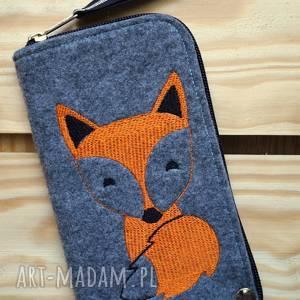 Prezent Filcowe etui na telefon - lisek, smartfon, pokrowiec, fox, lis,
