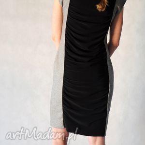 SUDAN - sukienka, wieczorowa, koktajlowa, karnawałowa, czarna, szara