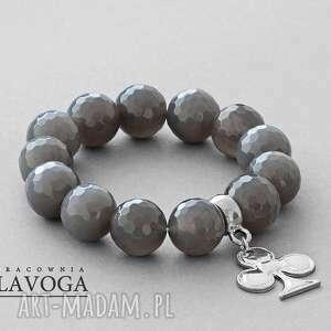 Agathe with pendant in gray lavoga trefl, agat, zawieszka