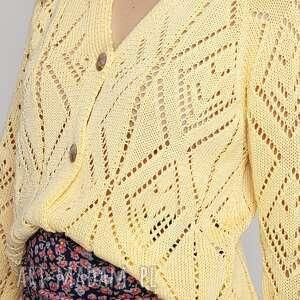 handmade swetry wiosenno-letni sweterek - swe233 żółty mkm