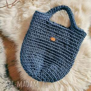 damska torebka szydełkowa ze sznurka, makrama