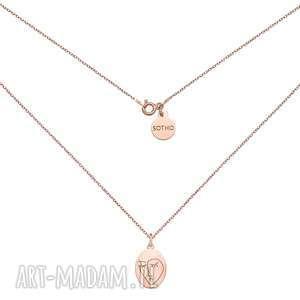 medalion z różowego złota face n°3 sotho - pozłacany