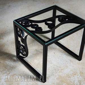 metalowy industrialny stolik kawowy, stolik, kawowy, steel, nowoczesny, solidny