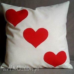 poduszki poduszka walentynkowa trzy serca , poduszka, poszewka, serce, prazent